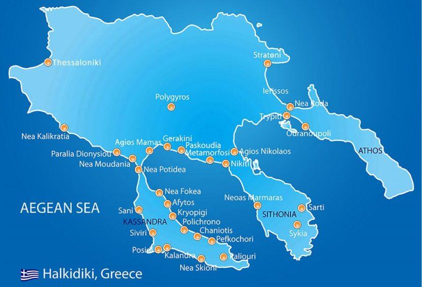 Halkidiki Map