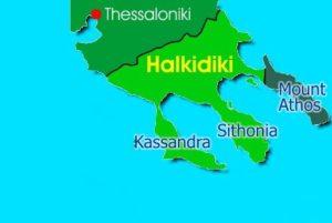 map halkidiki