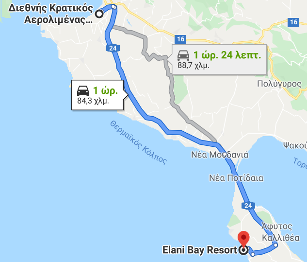 Transfer to Elani Bay Resort