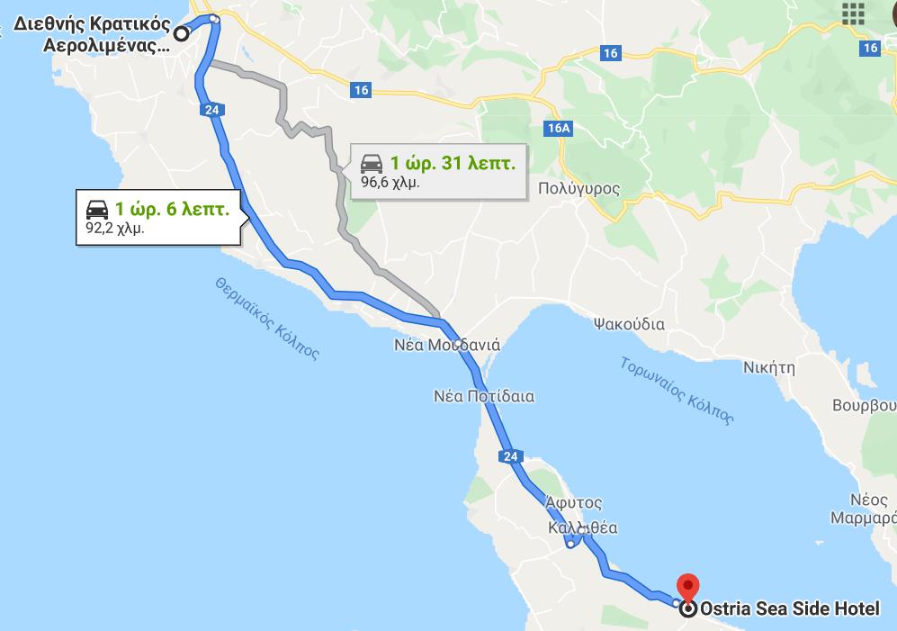 Transfer to Ostria Sea Side Hotel
